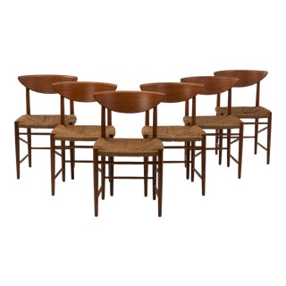 1956 Peter Hvidt and Orla Mølgaard-Nielsen for Søborg Møbelfabrik Danish Dining Chairs - Set of 6 For Sale