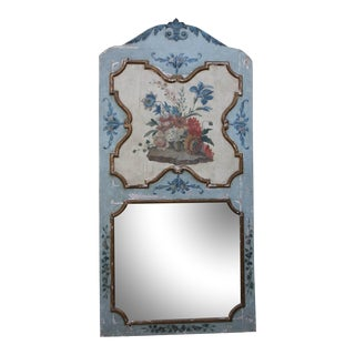 French Painted Floral Mirror, Circa 1900s