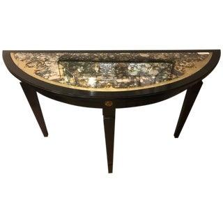 Maison Jansen Églomiséd Demilune Console Table For Sale