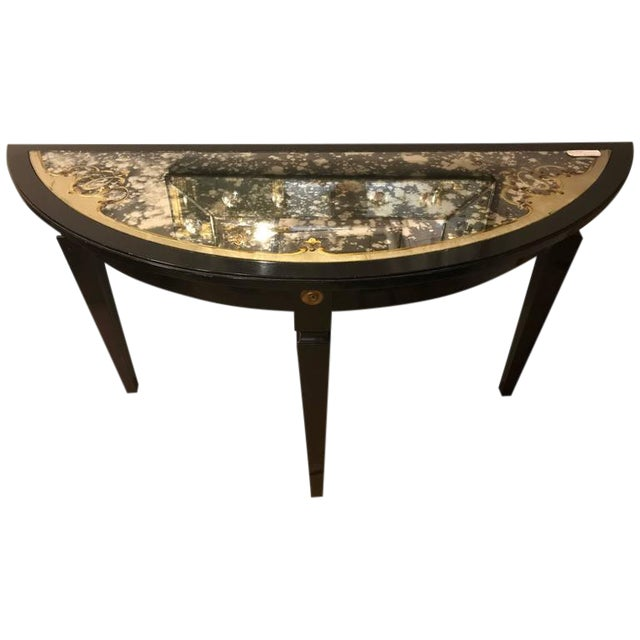 Maison Jansen Églomiséd Demilune Console Table For Sale
