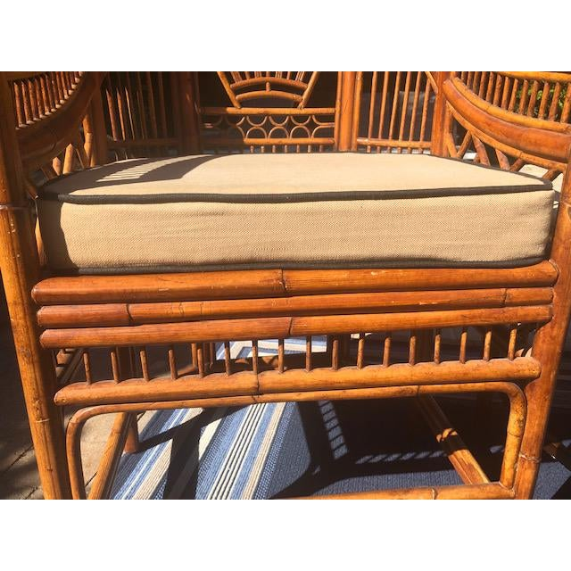 Asian 1990s Vintage Bali Bamboo Chairs & Table- Set of 3 For Sale - Image 3 of 9