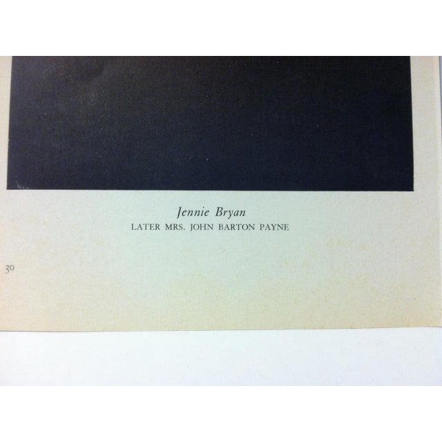 """Figurative 1954 """"Jennie Bryan"""" Famous Figure of the 19th Century Print For Sale - Image 3 of 4"""