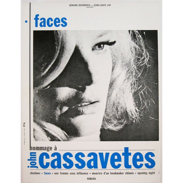 """""""Faces"""" French Film Poster - Image 2 of 2"""
