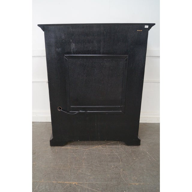 Hooker Furniture Hooker Furniture Seven Seas Black TV Armoire Cabinet For Sale - Image 4 of 10