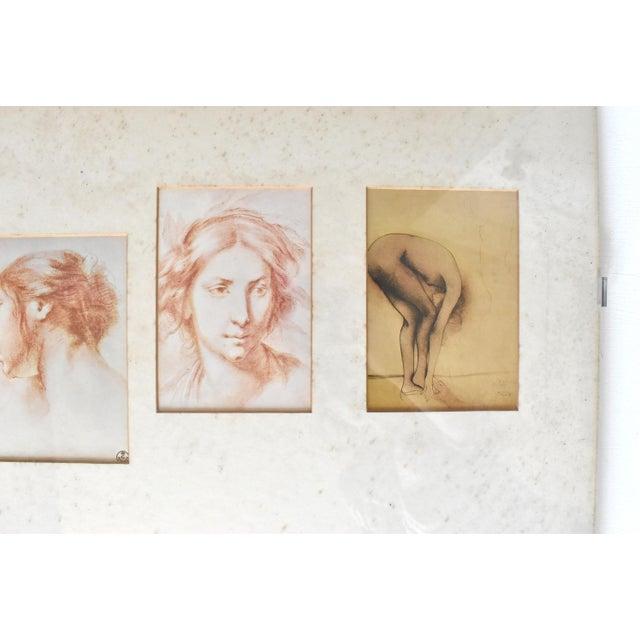 Vintage Framed Old Masters Figural and Portrait Sketches For Sale - Image 4 of 11