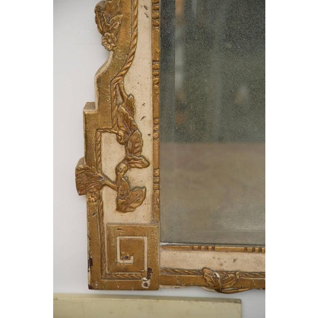 Louis XVI 20th Century Louis XVI Style Parcel Gilt and Cream Painted Wall Mirror For Sale - Image 3 of 8