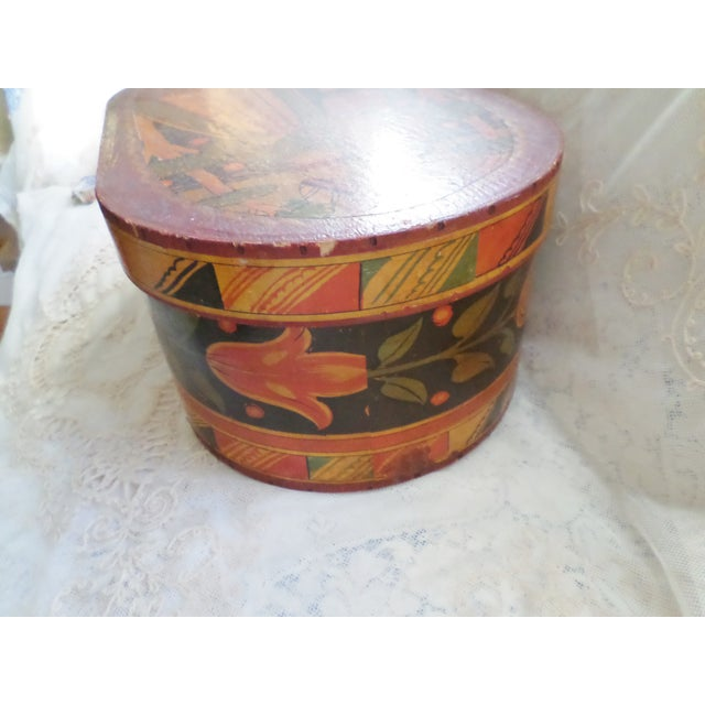 Antique Tony Sarg Nantucket Hand Painted Wooden Bride Box For Sale In Columbia, SC - Image 6 of 12
