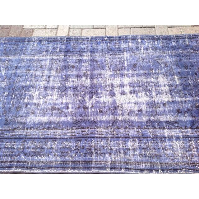 Vintage Turkish Over Dyed Rug - 3′7″ × 6′11″ For Sale - Image 4 of 6