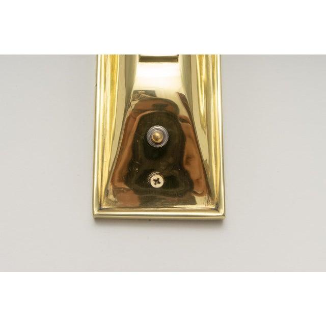 Jules Leleu Art Deco Brass Sconces - a Pair For Sale - Image 4 of 13