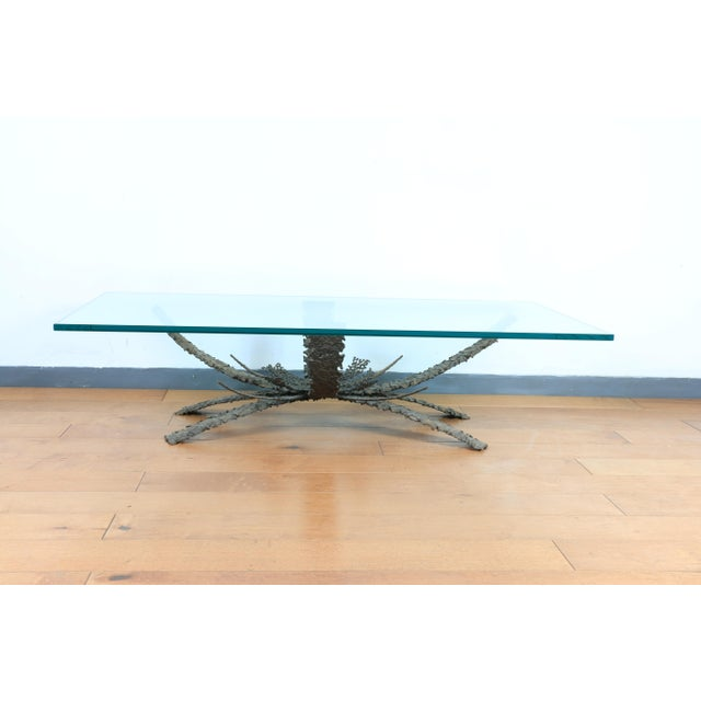 1960's Brutalist Bronze Coffee Table by Daniel Gluck For Sale In Los Angeles - Image 6 of 6