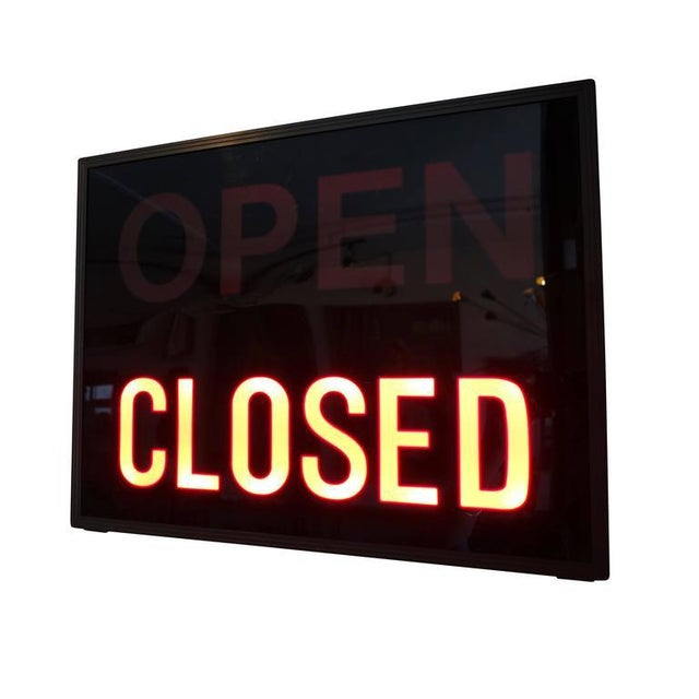 'Open / Closed' Illuminated LED Light Box, Circa 1980s - Image 5 of 6