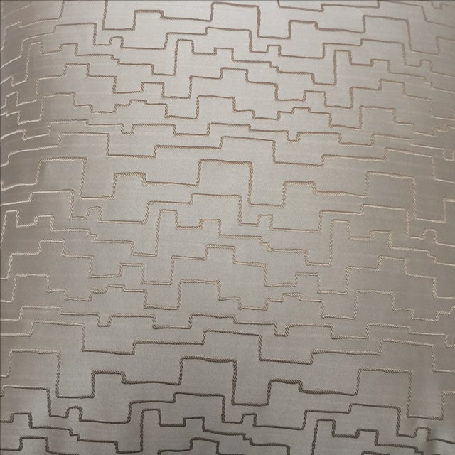 Modern Geometric Satin Pillows- A Pair - Image 6 of 6