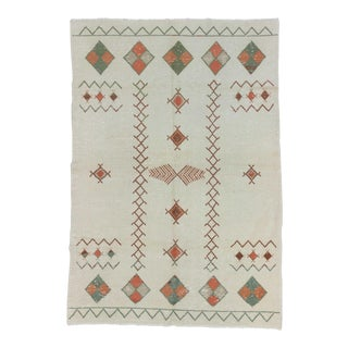 Vintage Decorative Turkish Area Rug - 6′4″ × 9′2″ For Sale