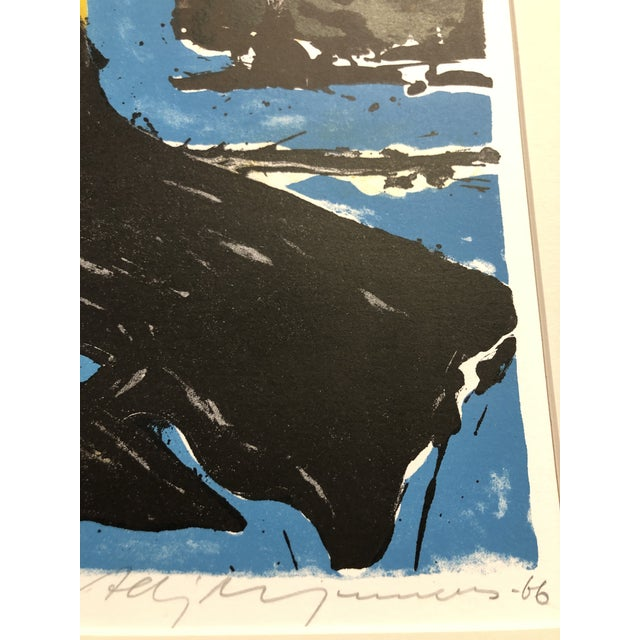 Abstract 1966 Abstract Lithograph New York Artist For Sale - Image 3 of 10