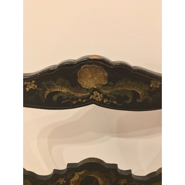 Asian Pair of French Chinoisere Chairs For Sale - Image 3 of 10