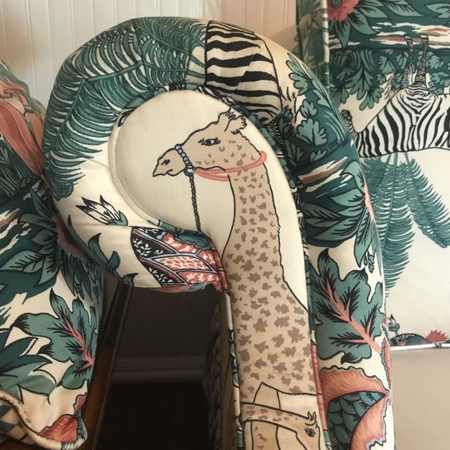 1980s Vintage Pearson British West Indies Jungle Print Sofa For Sale - Image 12 of 13
