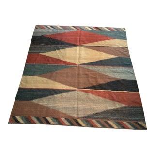 Vintage Native American Rug - 6′10″ × 7′2″ For Sale