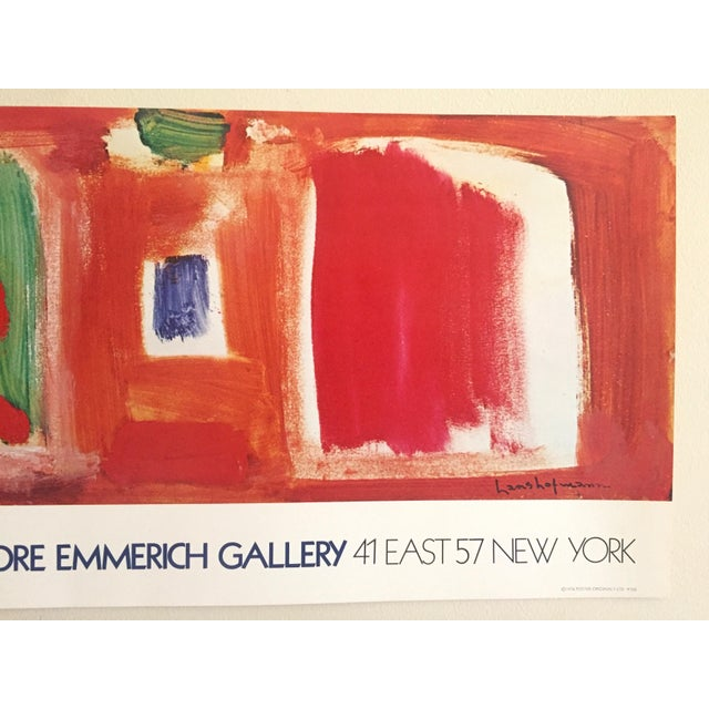 1970s Hans Hofmann Vintage 1974 Abstract Expressionist Lithograph Print Exhibition Poster For Sale - Image 5 of 9