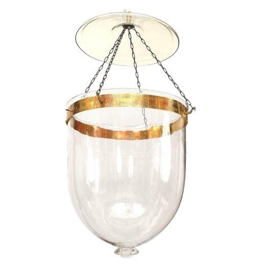 Georgian English Georgian Style Clear Glass Hanging Lantern For Sale - Image 3 of 3