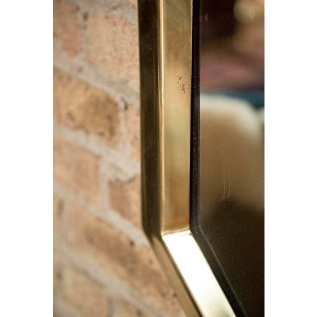 Brass Octagonal Mirrors - A Pair - Image 11 of 11