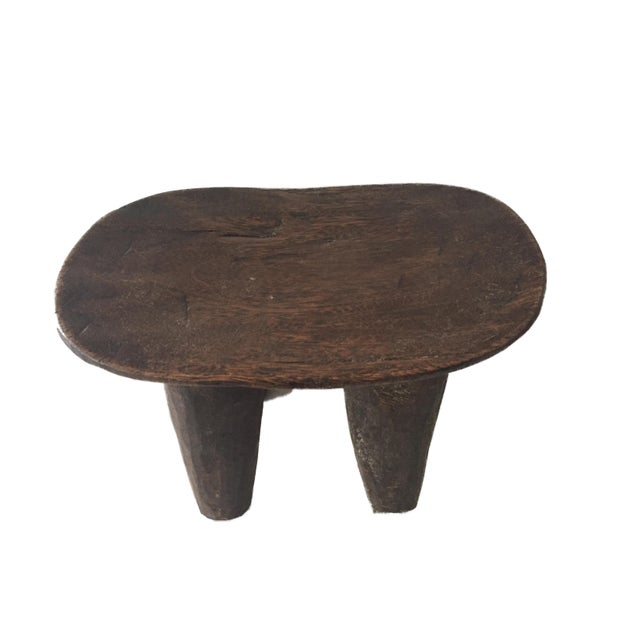 """1970s African Senufo Wood Kids Milk Stool I . Coast 12.25"""" W by 8.5"""" H For Sale - Image 5 of 9"""