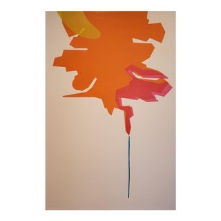 """Ernest Regua Abstract Painting """"Flux"""" For Sale"""