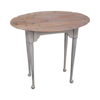 Hand Painted Andrea Davinci Braun Side Table For Sale