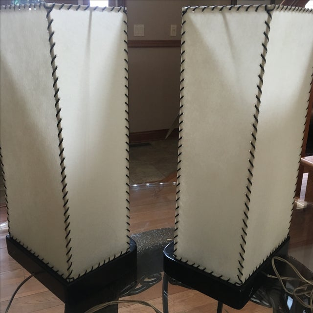 Mid-Century Modern Heifetz Lamps - a Pair - Image 5 of 10