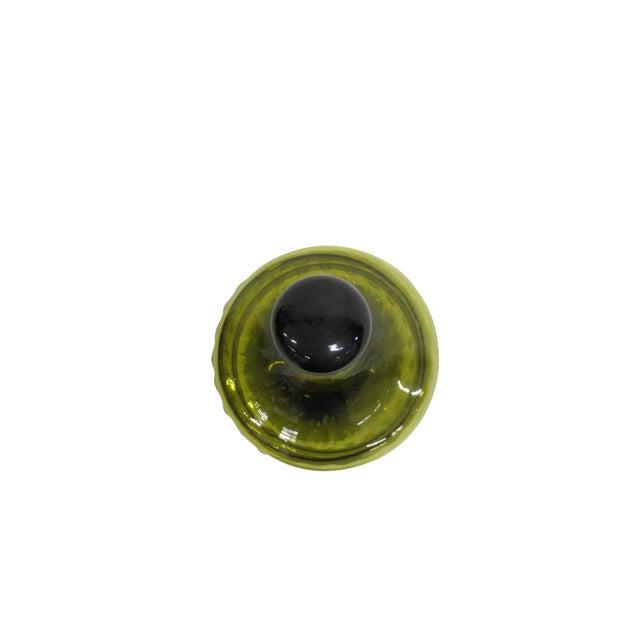 Green Glass Bon-Bon Dish - Image 4 of 5