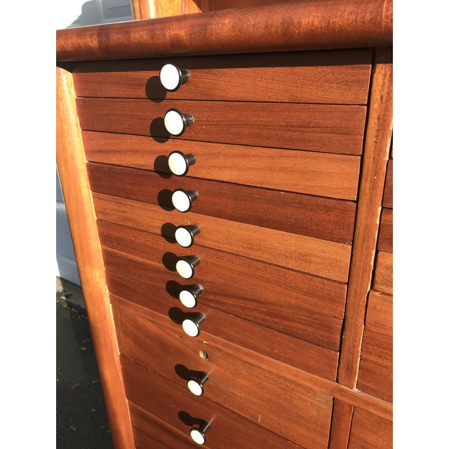Early 20th Century Antique Art Deco Teak and Marble Dentist's Chest For Sale In Milwaukee - Image 6 of 12