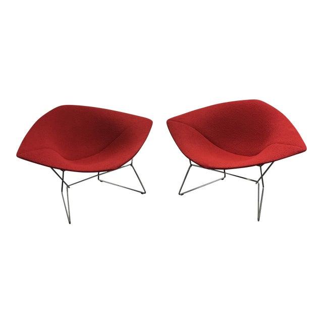 Bertoia Diamond Chairs - A Pair - Image 1 of 7