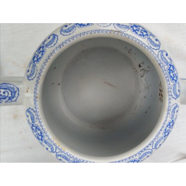 19th Century Enamel Willow Teapot - Image 5 of 5