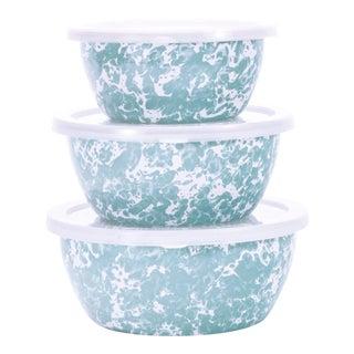 Nesting Bowls Sea Glass Swirl - Set of 3 For Sale