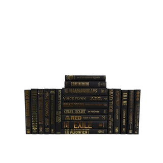 Bold & Gold Modern : Set of Twenty Decorative Books For Sale