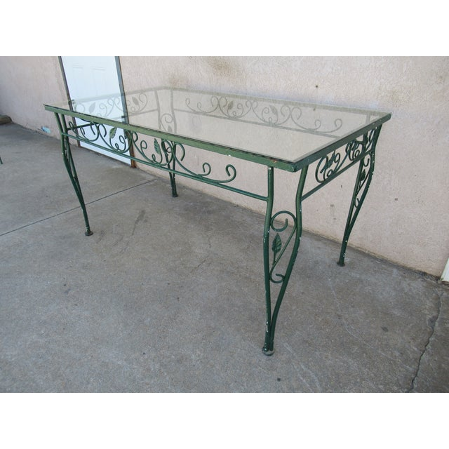 Art Deco Vintage Salterini Patio Dining Table For Sale - Image 3 of 13