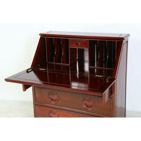 Chinese Rosewood Secretary Desk Image 3 Of 8