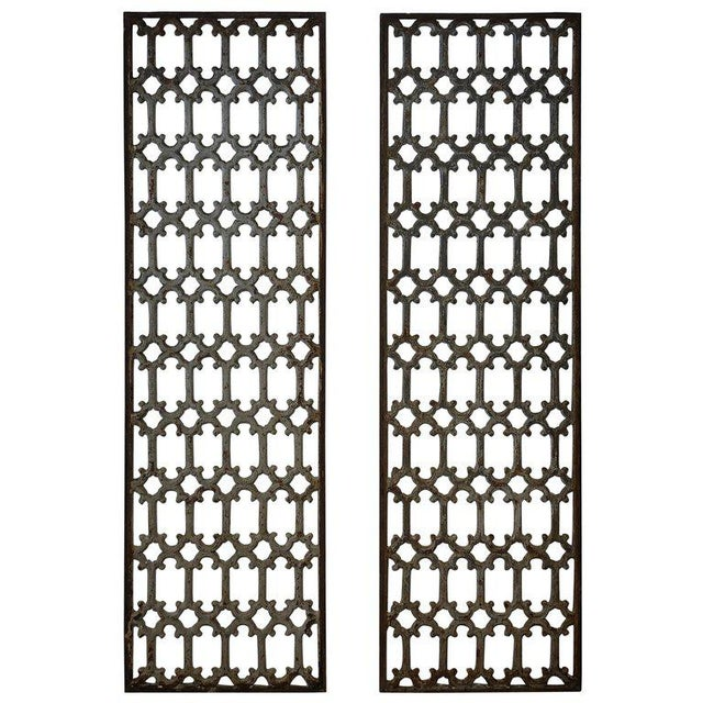 Gray Mid 19th Century British Decorative Iron Panels- a Pair For Sale - Image 8 of 8