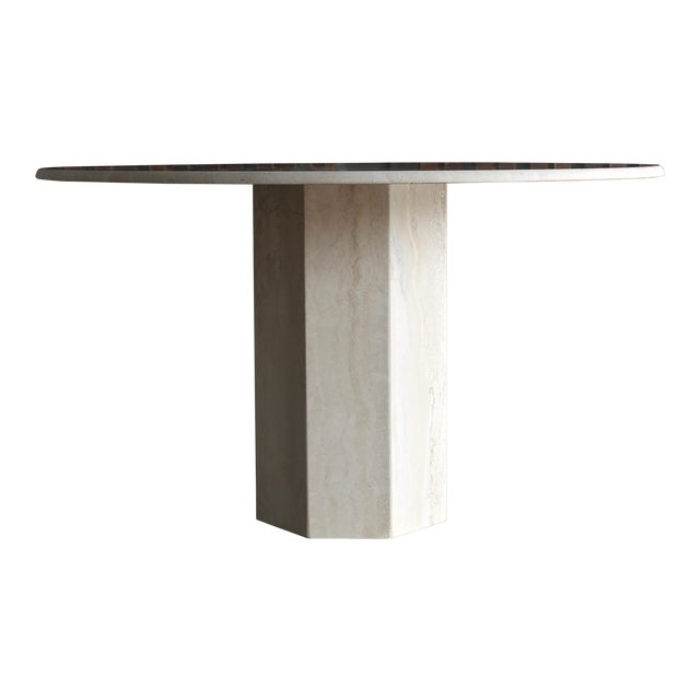 1980s Modern Style Travertine Centre Table For Sale