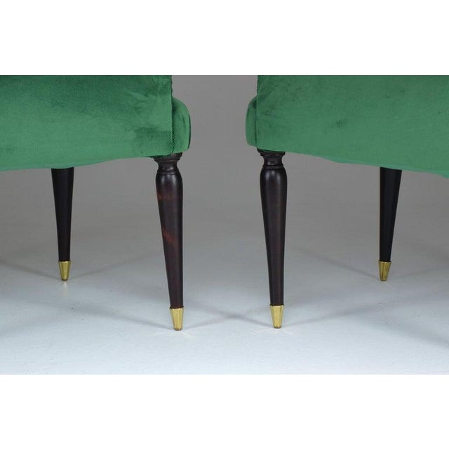 20th Century Italian Armchairs- A Pair For Sale - Image 4 of 9
