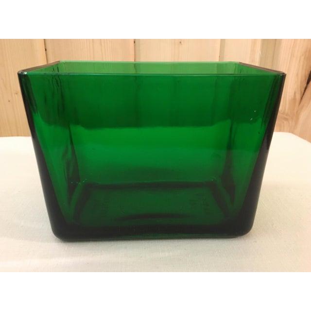 Mid-Century Emerald Green Glass Planter - Image 7 of 11