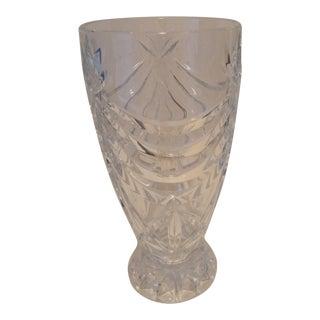 1970s Shannon Contessa Hurricane Crystal Vase For Sale