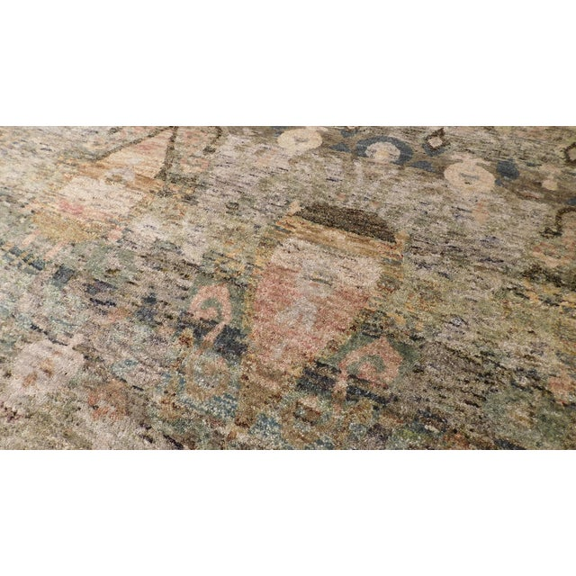 """Transitional Hand-Knotted Luxury Rug - 8'11"""" x 12' - Image 4 of 6"""