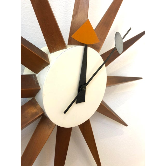 Mid-Century Modern 1950s George Nelson Starburst Clock For Sale - Image 3 of 6