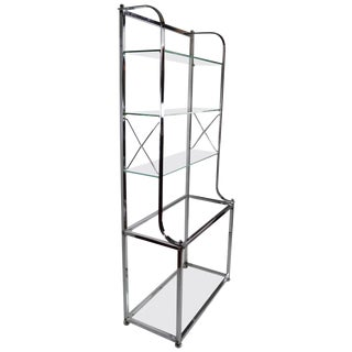 Chrome Vitrine in the Hollywood Regency Style For Sale