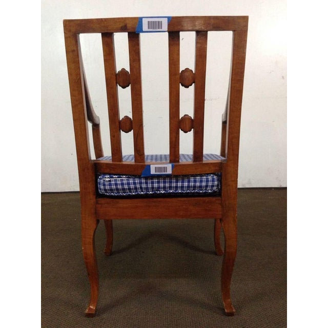 Antique Carved Walnut Armchair - Image 5 of 6