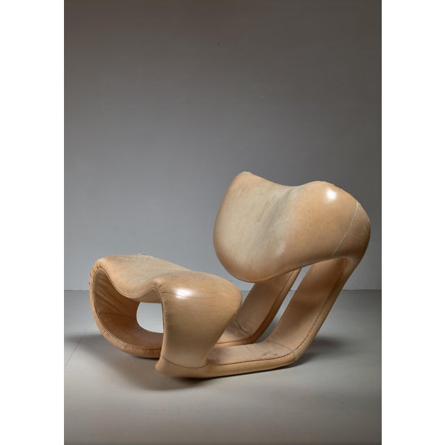 Leather Vittorio Introini Lounge Chair for Saporiti, Italy, 1970s For Sale - Image 7 of 7