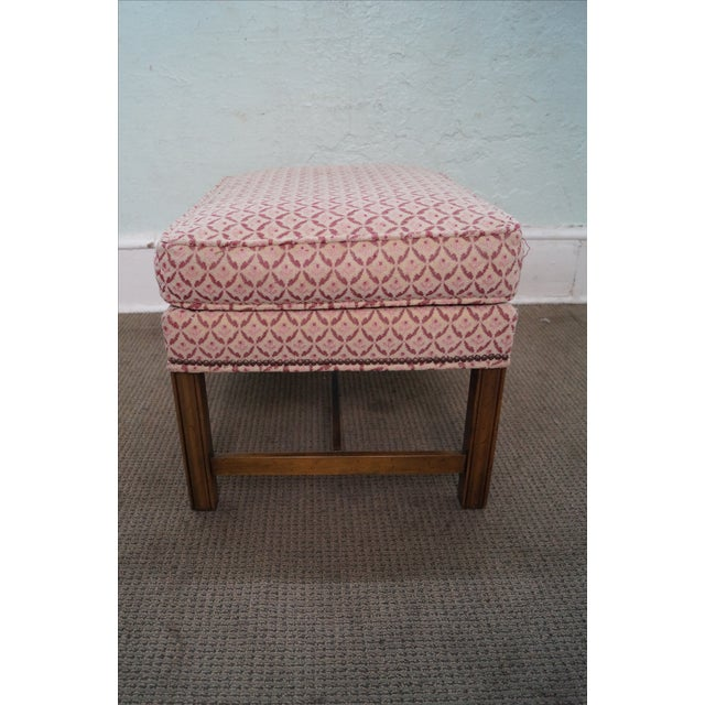 Baker Furniture Co Chippendale Style Ottoman - Image 2 of 10