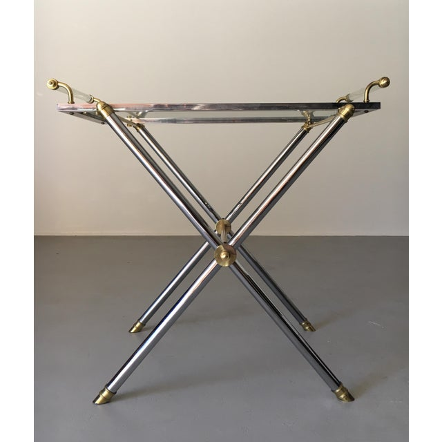 Brass Vintage Maison Jansen Tray Table For Sale - Image 7 of 13