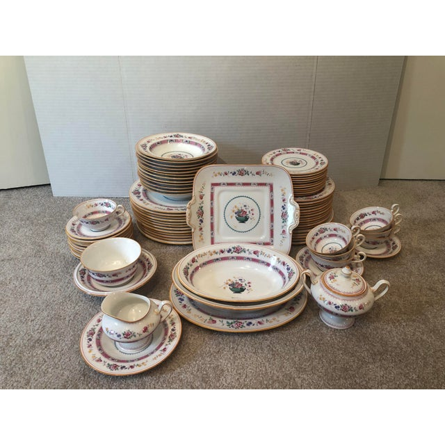 """English Royal Doulton """"Urn"""" Pattern Dinner Set - 80 Pieces For Sale - Image 13 of 13"""