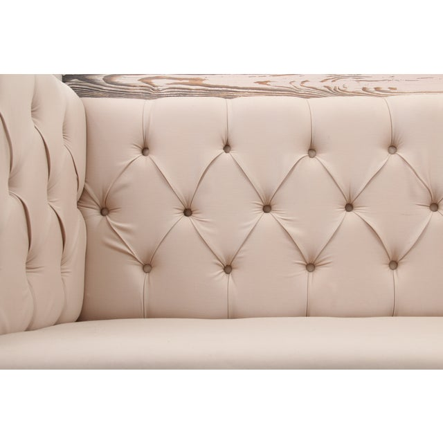 Rustic Tufted Wagon Settee - Image 8 of 9